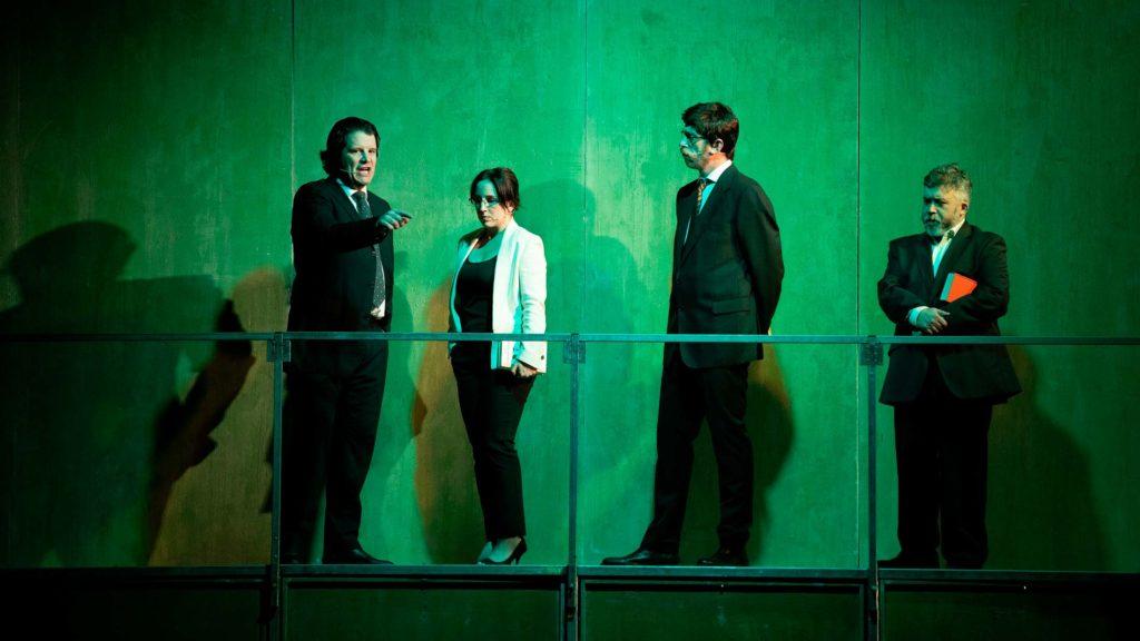 Los actores de Fariña en un momento de la obra