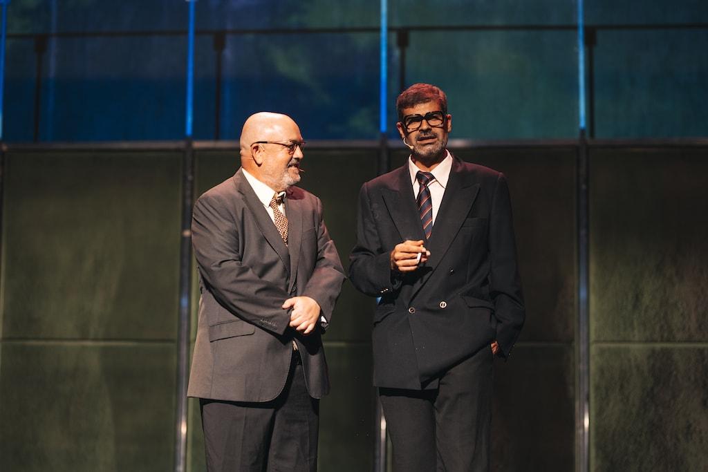 César Goldi y Oswaldo Digón en el escenario